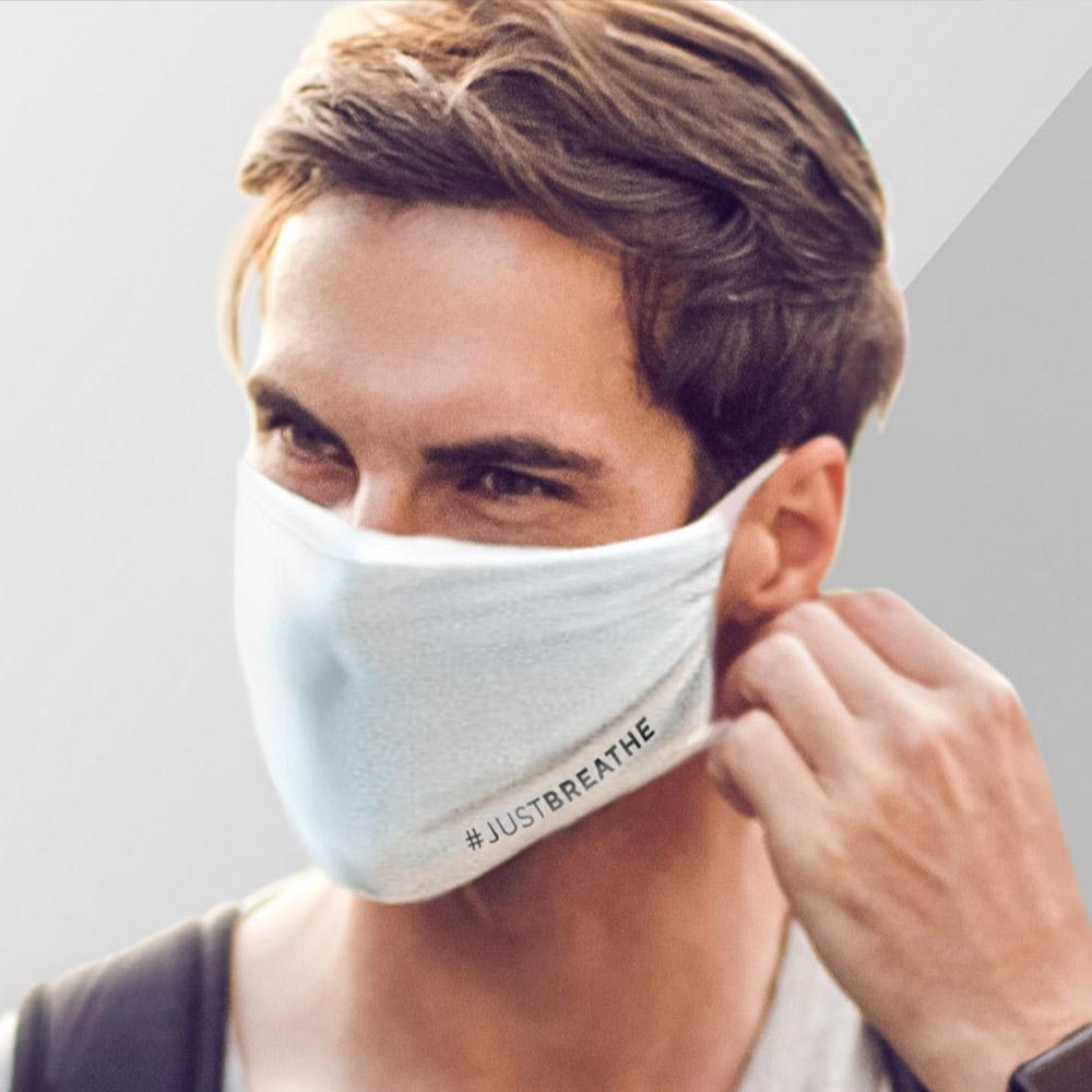 #JUSTBREATHE – Community Maske – Weiß (5 Stück)